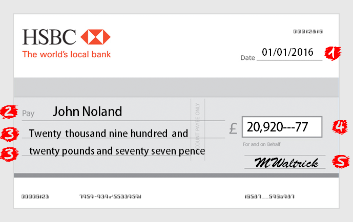 hsbc cheque